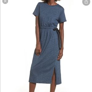 Lush Side Tie Midi T-Shirt Dress.